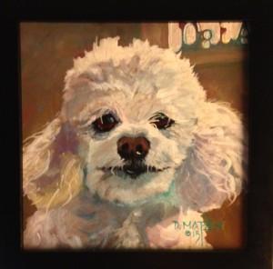 Deon Matson's painting of Chou Chou